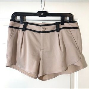 Alice + Olivia Shorts with Leather Trim